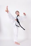 Λάκτισμα Taekwondo Στοκ φωτογραφία με δικαίωμα ελεύθερης χρήσης