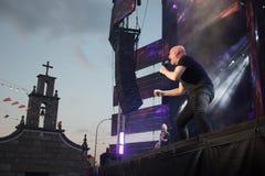Λάμα, Γαλικία, Ισπανίας - 7 Μαΐου, 2018: Συναυλία από τη διάσημη ορχήστρα πανοράματος στα δημοφιλή φεστιβάλ της πόλης των λάμα μέ στοκ εικόνες με δικαίωμα ελεύθερης χρήσης
