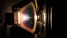 Λάμπα φωτός ενός προβολέα ταινιών 8mm φιλμ μικρού μήκους