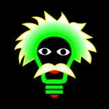Λάμπα φωτός σπινθήρων στο ανθρώπινο πρόσωπο Στοκ εικόνα με δικαίωμα ελεύθερης χρήσης