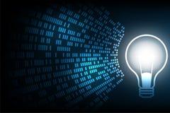 Λάμπα φωτός στην έννοια τεχνολογίας Στοκ Εικόνες
