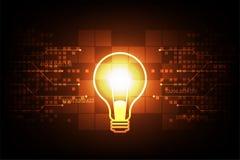 Λάμπα φωτός στις δημιουργικές ιδέες Στοκ εικόνα με δικαίωμα ελεύθερης χρήσης