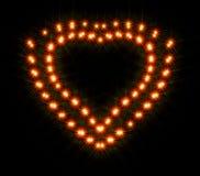 Λάμπει και λαμπιρίζει υπό μορφή δύο ρομαντικών καρδιών στοκ εικόνες με δικαίωμα ελεύθερης χρήσης
