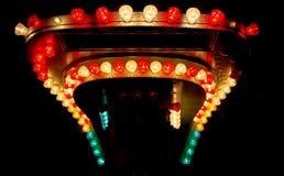Λάμπες φωτός από το funfair στοκ εικόνες με δικαίωμα ελεύθερης χρήσης