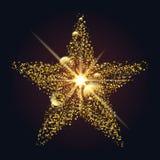 Λάμποντας αστέρι των σημείων και των κύκλων διανυσματική απεικόνιση