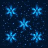 Λάμποντας αφηρημένο snowflakes υπόβαθρο Στοκ Εικόνα