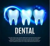 Λάμποντας δόντι Helthy με τα φω'τα κινήσεων Δόντια Cleaining Πρότυπο σχεδίου στοματολογίας Frech Οδοντική υγεία σμάλτων Στοκ Εικόνα