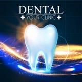 Λάμποντας δόντι Helthy με τα φω'τα κινήσεων Πρότυπο σχεδίου στοματολογίας Frech Έννοια οδοντικής υγείας Στοματική φροντίδα Στοκ φωτογραφία με δικαίωμα ελεύθερης χρήσης