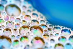 Λάμποντας ζωηρόχρωμες φυσαλίδες σαπουνιών Στοκ φωτογραφία με δικαίωμα ελεύθερης χρήσης
