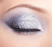 Λάμποντας μάτια γυναικών makeup Στοκ Φωτογραφία
