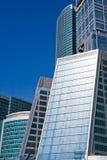 λάμποντας ουρανοξύστες στοκ εικόνες