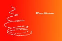 Λάμποντας πεύκο και Χαρούμενα Χριστούγεννα αστεριών Στοκ εικόνα με δικαίωμα ελεύθερης χρήσης