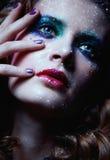 Λάμποντας πρόσωπο γυναικών makeup Στοκ Εικόνα