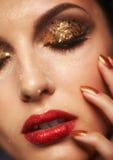 Λάμποντας πρόσωπο makeup στοκ εικόνες