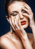 Λάμποντας πρόσωπο makeup στοκ εικόνα