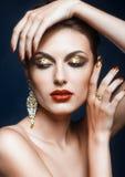 Λάμποντας πρόσωπο makeup στοκ φωτογραφίες