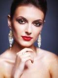 Λάμποντας πρόσωπο makeup στοκ φωτογραφίες με δικαίωμα ελεύθερης χρήσης