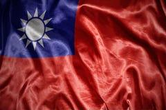 λάμποντας σημαία της Ταϊβάν Στοκ φωτογραφία με δικαίωμα ελεύθερης χρήσης
