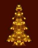 Λάμποντας χριστουγεννιάτικο δέντρο Στοκ Εικόνες