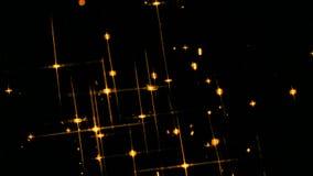 Λάμποντας χρυσά αστέρια απόθεμα βίντεο