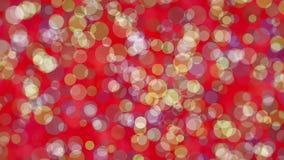 Λάμποντας χρωματισμένοι κύκλοι στο κόκκινο απόθεμα βίντεο