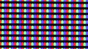 Λάμποντας ψηφιακή μακροεντολή εικονοκυττάρων οθόνης TV απόθεμα βίντεο