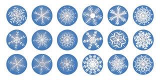 Λάμποντας snowflakes εικονίδιο στοκ εικόνες