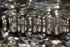 λάμποντας wineglasses Στοκ Εικόνα