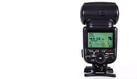 Λάμψη Speedlight φωτογραφικών μηχανών Στοκ εικόνα με δικαίωμα ελεύθερης χρήσης