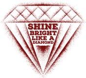 Λάμψτε φωτεινός όπως ένα διαμάντι διανυσματική απεικόνιση