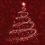 Λάμψτε χριστουγεννιάτικο δέντρο - διάνυσμα απεικόνιση αποθεμάτων