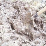 Λάσπη και φτυάρι Στοκ Εικόνα