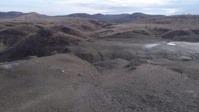 Λάσπη vulcanoes στη Ρουμανία απόθεμα βίντεο