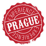 Λάστιχο γραμματοσήμων της Πράγας grunge Στοκ Εικόνες