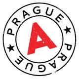 Λάστιχο γραμματοσήμων της Πράγας grunge Στοκ φωτογραφία με δικαίωμα ελεύθερης χρήσης