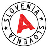 Λάστιχο γραμματοσήμων της Σλοβενίας grunge Στοκ φωτογραφία με δικαίωμα ελεύθερης χρήσης