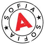 Λάστιχο γραμματοσήμων της Sofia grunge Στοκ Φωτογραφία