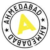 Λάστιχο γραμματοσήμων του Ahmedabad grunge Στοκ Εικόνες