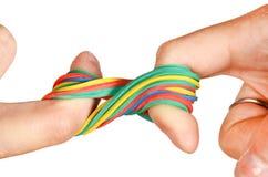 λάστιχο χεριών ζωνών στοκ εικόνες με δικαίωμα ελεύθερης χρήσης