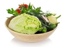 Λάχανο, αγγούρια, κρεμμύδια, πράσινα, πιπέρι, Στοκ φωτογραφία με δικαίωμα ελεύθερης χρήσης