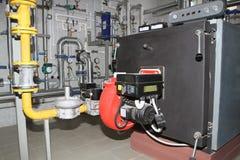 Λέβητας με τον καυστήρα αερίου στοκ εικόνες