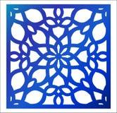 Λέιζερ που κόβει την τετραγωνική επιτροπή Fretwork floral σχέδιο με το mandala Στοκ Εικόνες