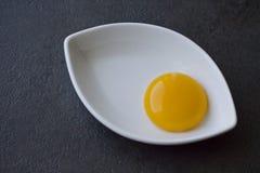 Λέκιθος αυγών σε ένα πιάτο Στοκ εικόνες με δικαίωμα ελεύθερης χρήσης