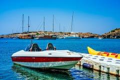 Λέμβος ταχύτητας και βάρκα μπανανών Στοκ εικόνα με δικαίωμα ελεύθερης χρήσης