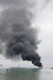 Λέμβος ταχύτητας στην πυρκαγιά σε Tarakan, Ινδονησία Στοκ φωτογραφίες με δικαίωμα ελεύθερης χρήσης