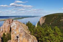 Λένα Pillars, άποψη Στοκ εικόνα με δικαίωμα ελεύθερης χρήσης