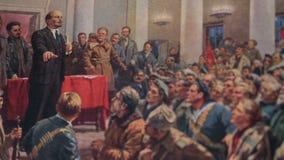 Λένιν μιλά σε ένα συνέδριο απόθεμα βίντεο