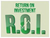 Λέξεις απόδοσης της επένδυσης ROI στοκ φωτογραφίες