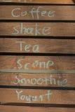 Λέξεις γραφής του ποτού Στοκ Φωτογραφίες