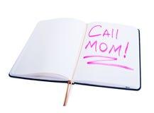 λέξεις ημερολογίων κλήσης mom Στοκ φωτογραφίες με δικαίωμα ελεύθερης χρήσης